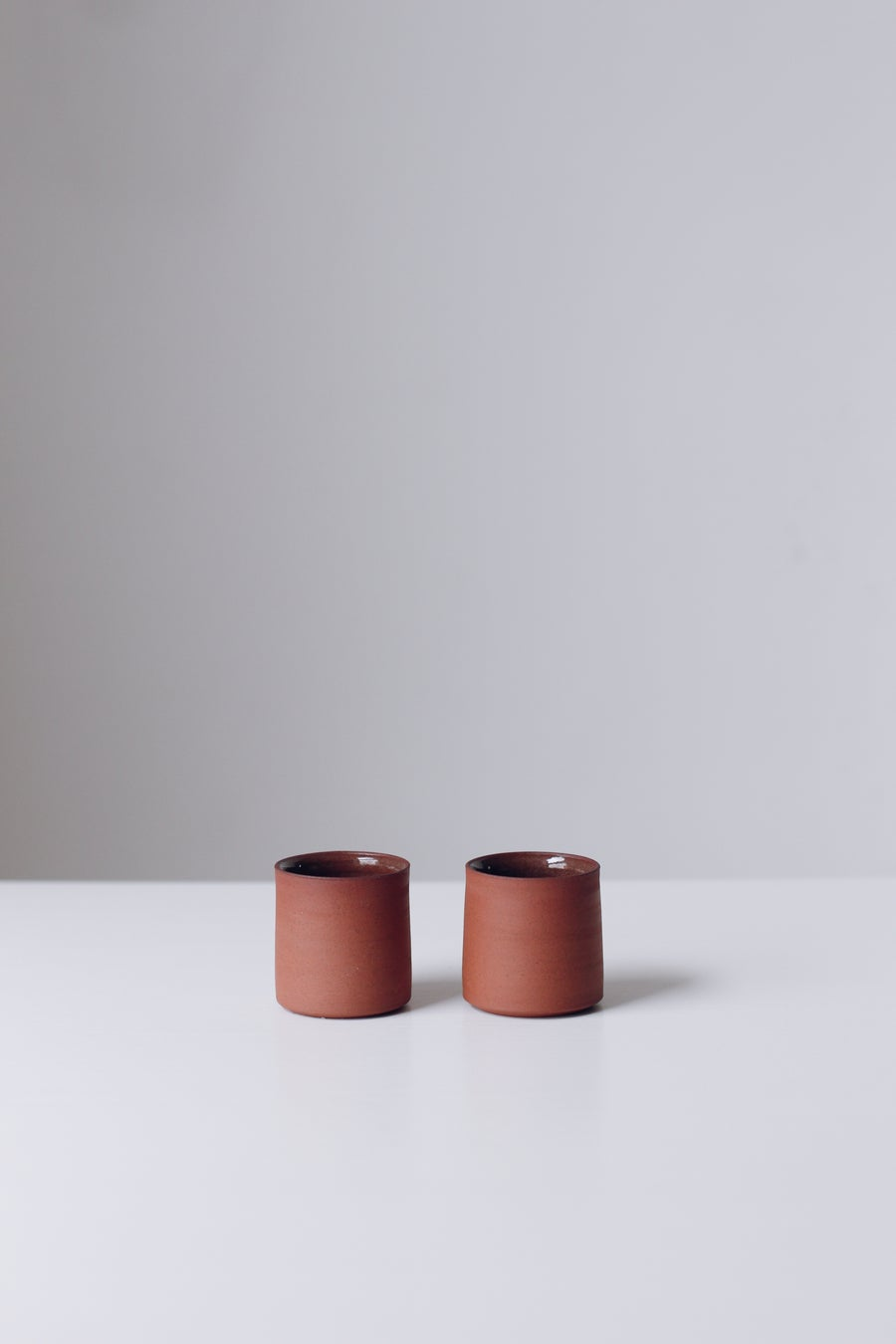Image of Pair of Terracotta Espresso cups