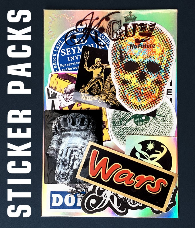 Image of STICKER PACKS - Edition of 50 Signed & Numbered - 8 PACKS LEFT