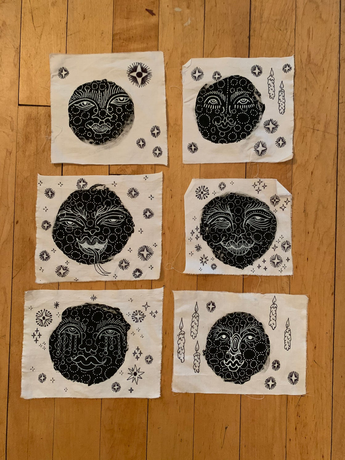 Image of MOON FACE MINI TAPESTRIES