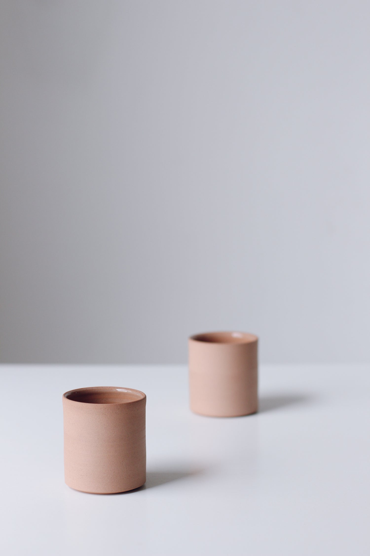 Image of Pair of Dune Flat White Cups