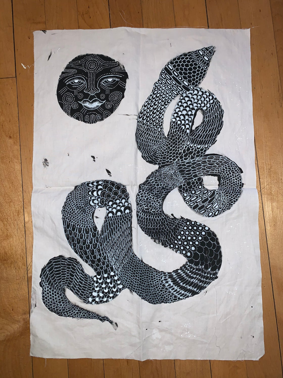 Image of SNAKE MOON TAPESTRY