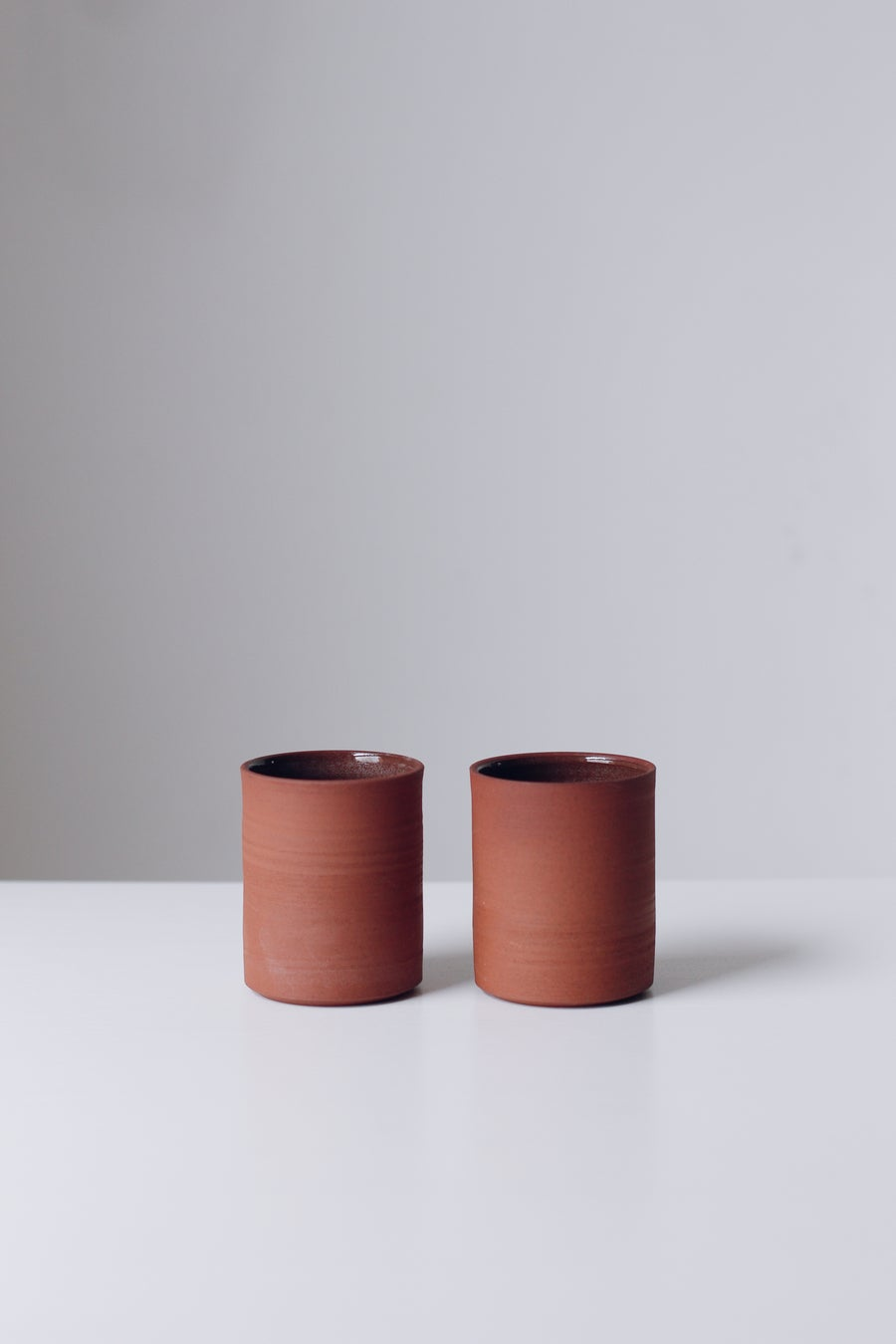 Image of Pair of Terracotta Tumblers