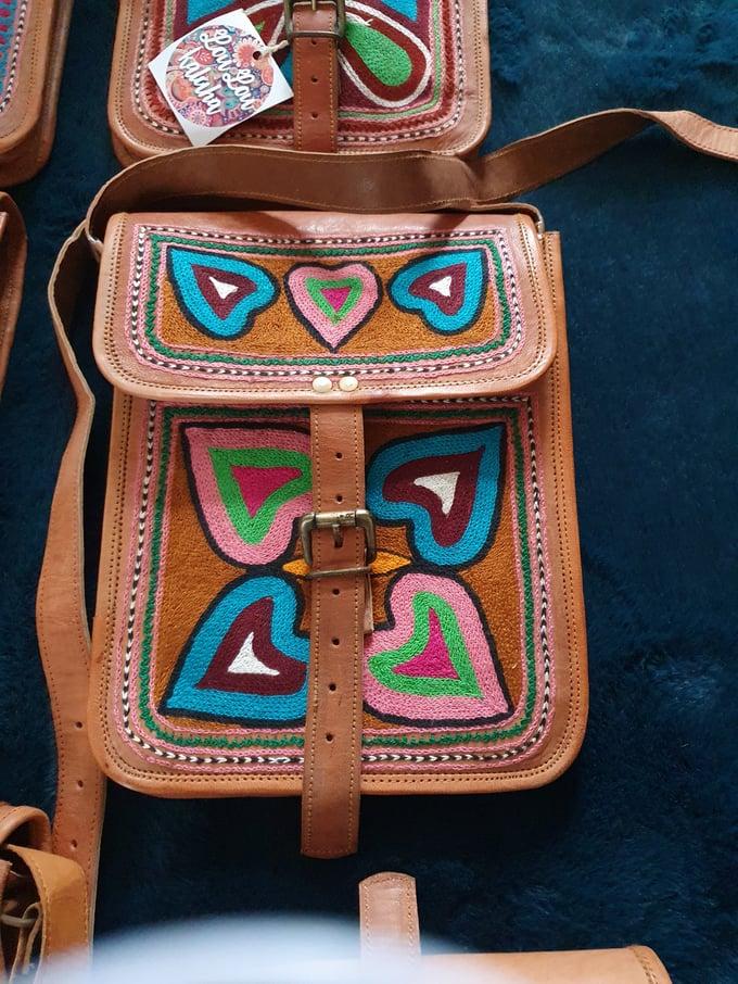 Image of Messenger leather bag