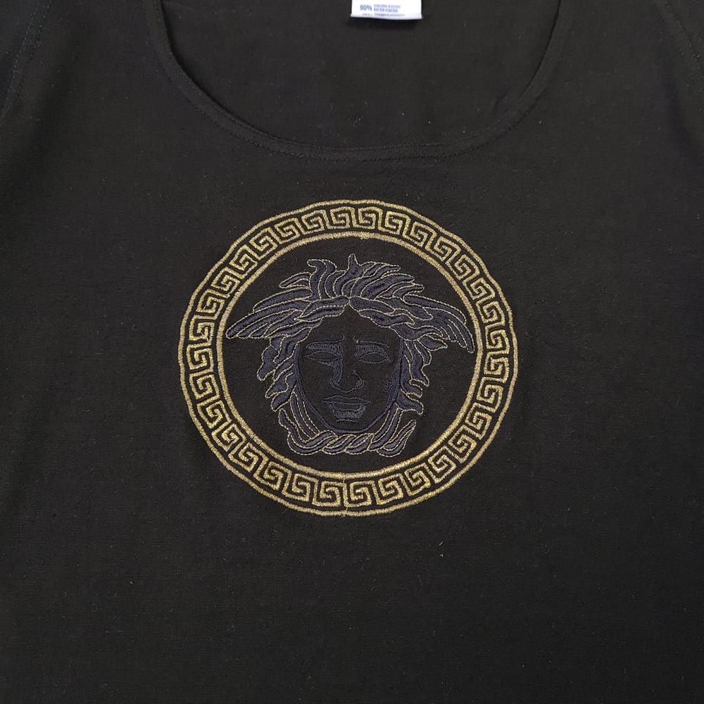 Image of Versace Gold Medusa Logo Top