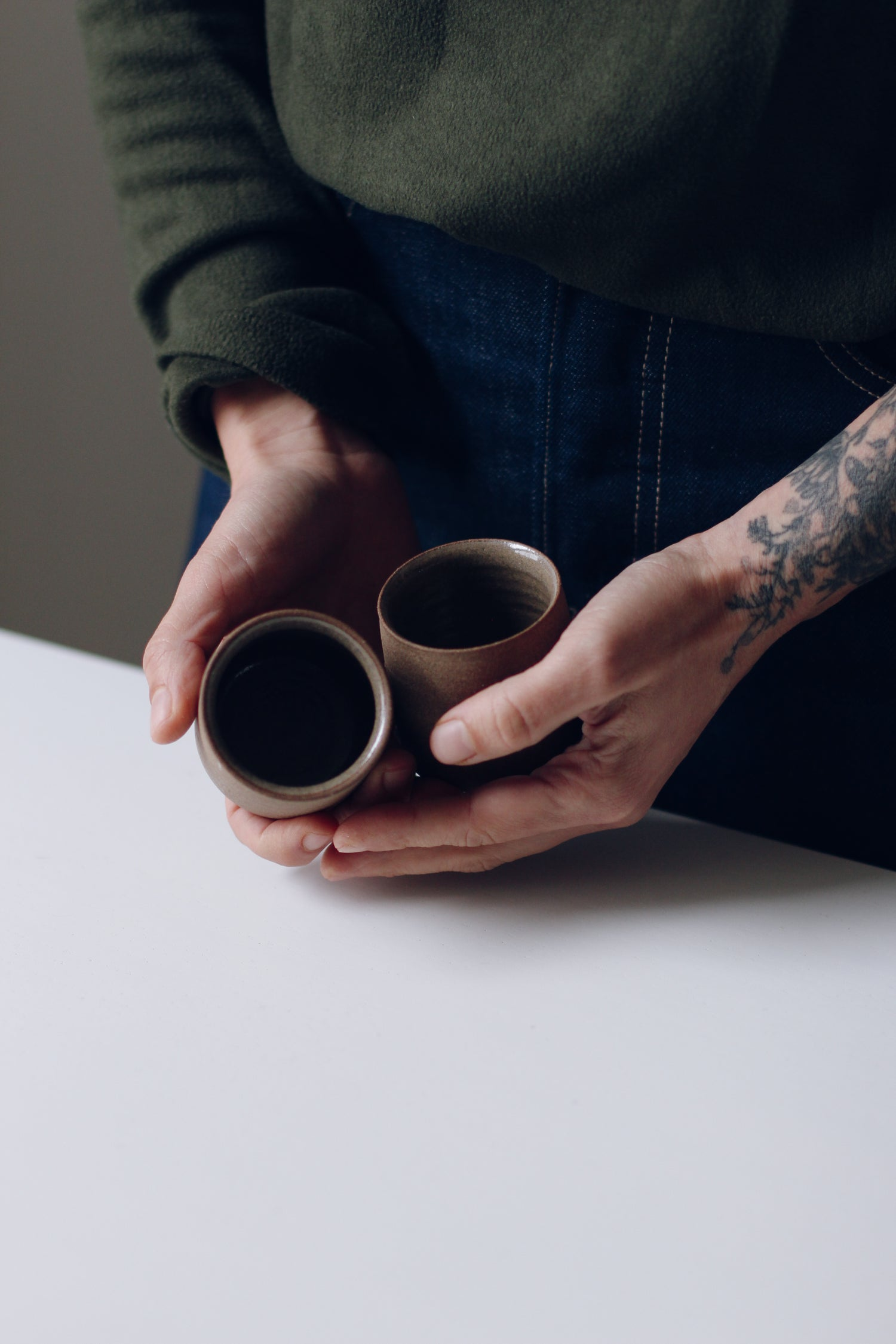 Image of Pair of Nude Espresso Cups