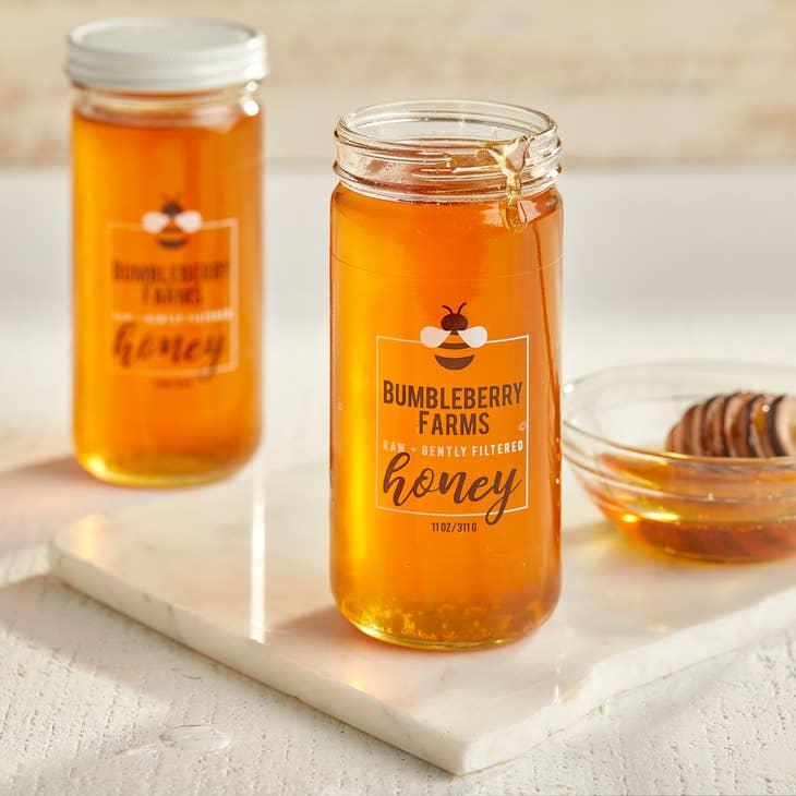 Image of Raw Unfiltered Nectar Honey 11oz. Jar