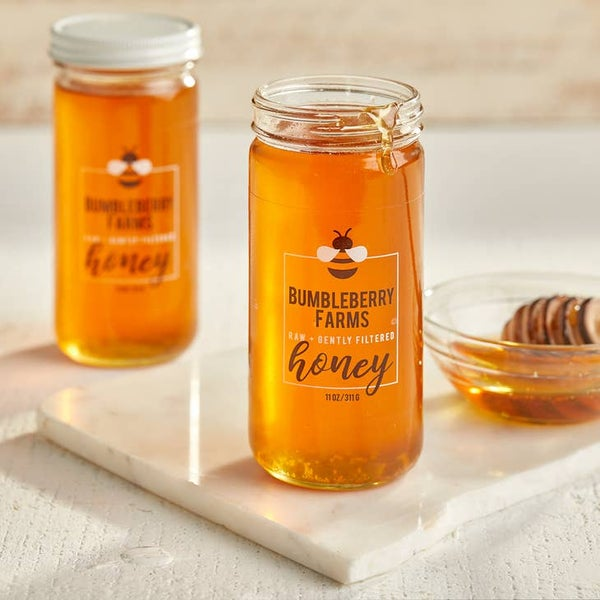 Image of Raw Unfiltered Nectar Honey 11oz. Jar
