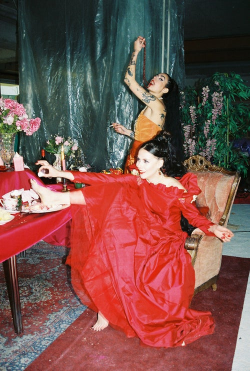 Image of Red Renaissance Dress