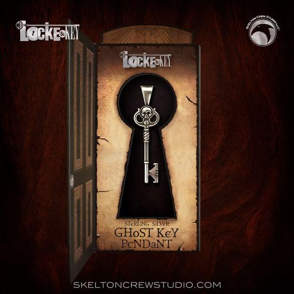 Image of Locke & Key: Sterling Silver Ghost Key Pendant!