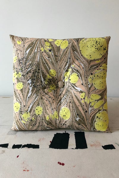 Image of Button Pillow - Lemon Drop