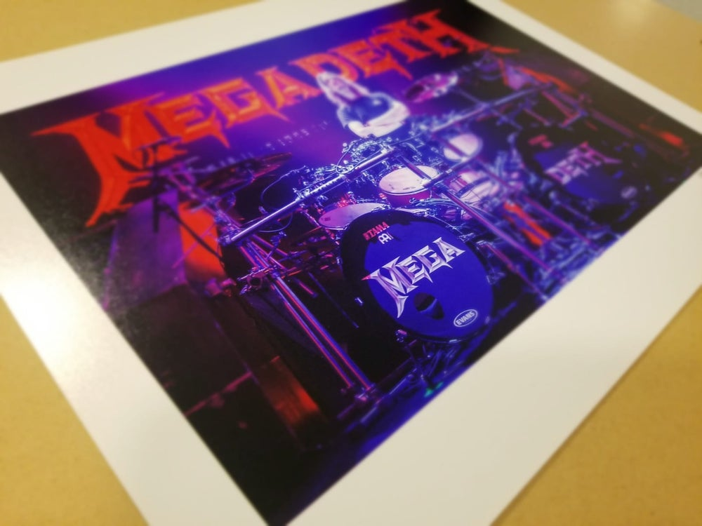 """Image of Dirk Verbeuren Megadeth 11""""x 14"""" Hand Numbered and Signed Print"""