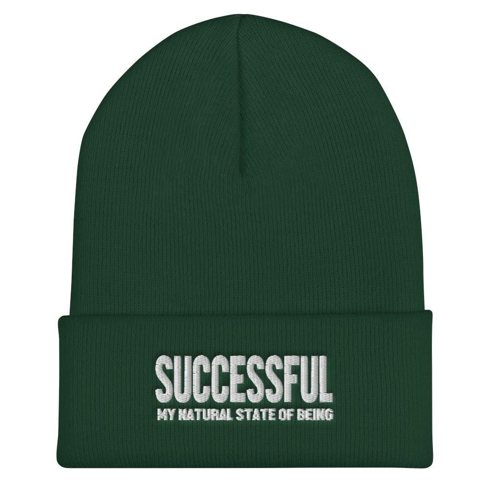 Successful Cuffed Beanie (Black, Navy or Green)