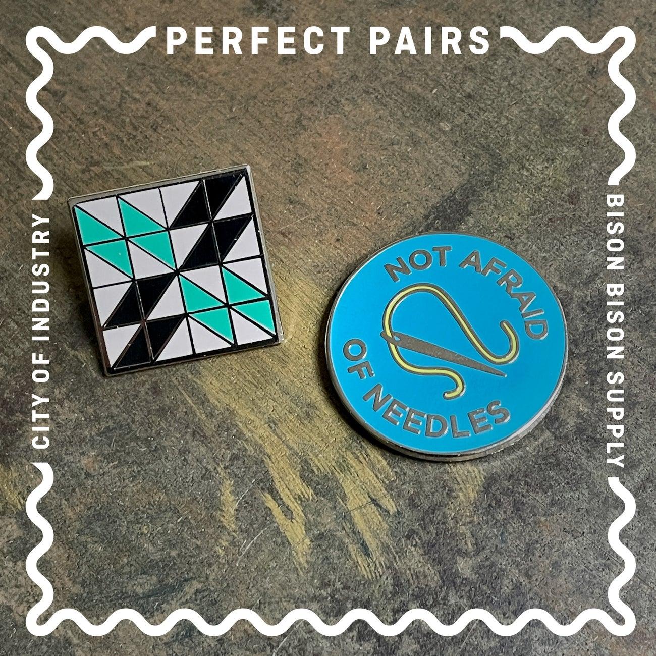 Image of Perfect Pairs: Needleminder + Quilt Block