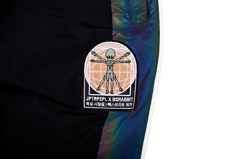 Image of JP X BS RR LINE TRACK PANTS BLACK