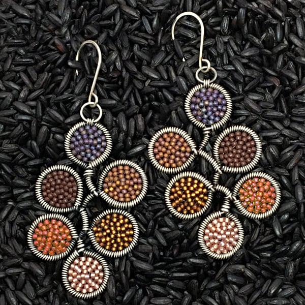 Image of 6 dot Earrings in Bonfire