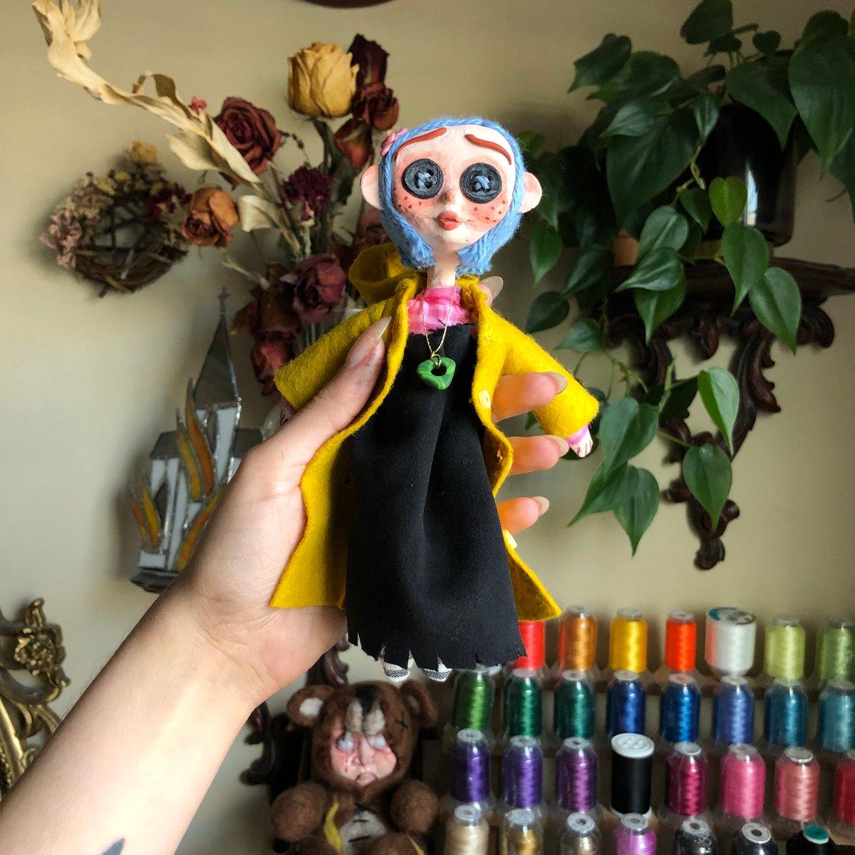 Image of Handmade Coraline doll