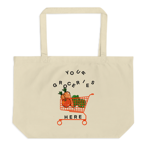 YOUR GROCERIES HERE ECO BAG