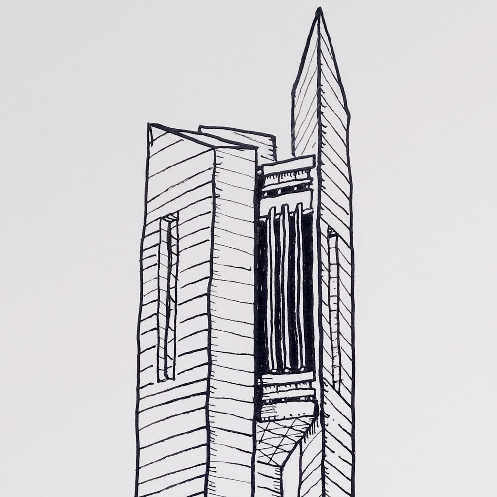 Image of An Original drawing of the National Carillon, Canberra