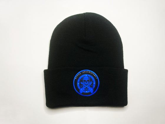 Image of Blue Skull Beanie