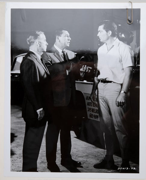 """Image of 1967 Official Dragnet Letterhead and matching TV Series Show Publicity Photo """"Tow-truck Drivers LA"""
