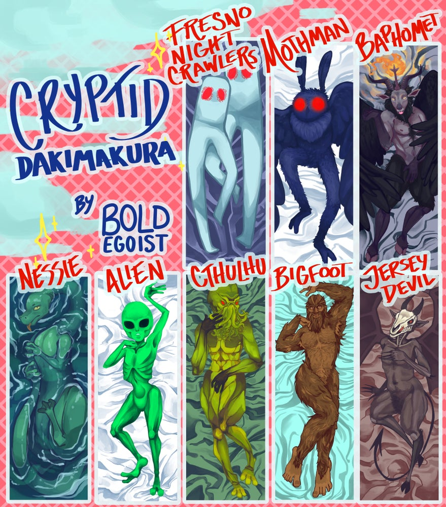 Cryptid Body Pillows!