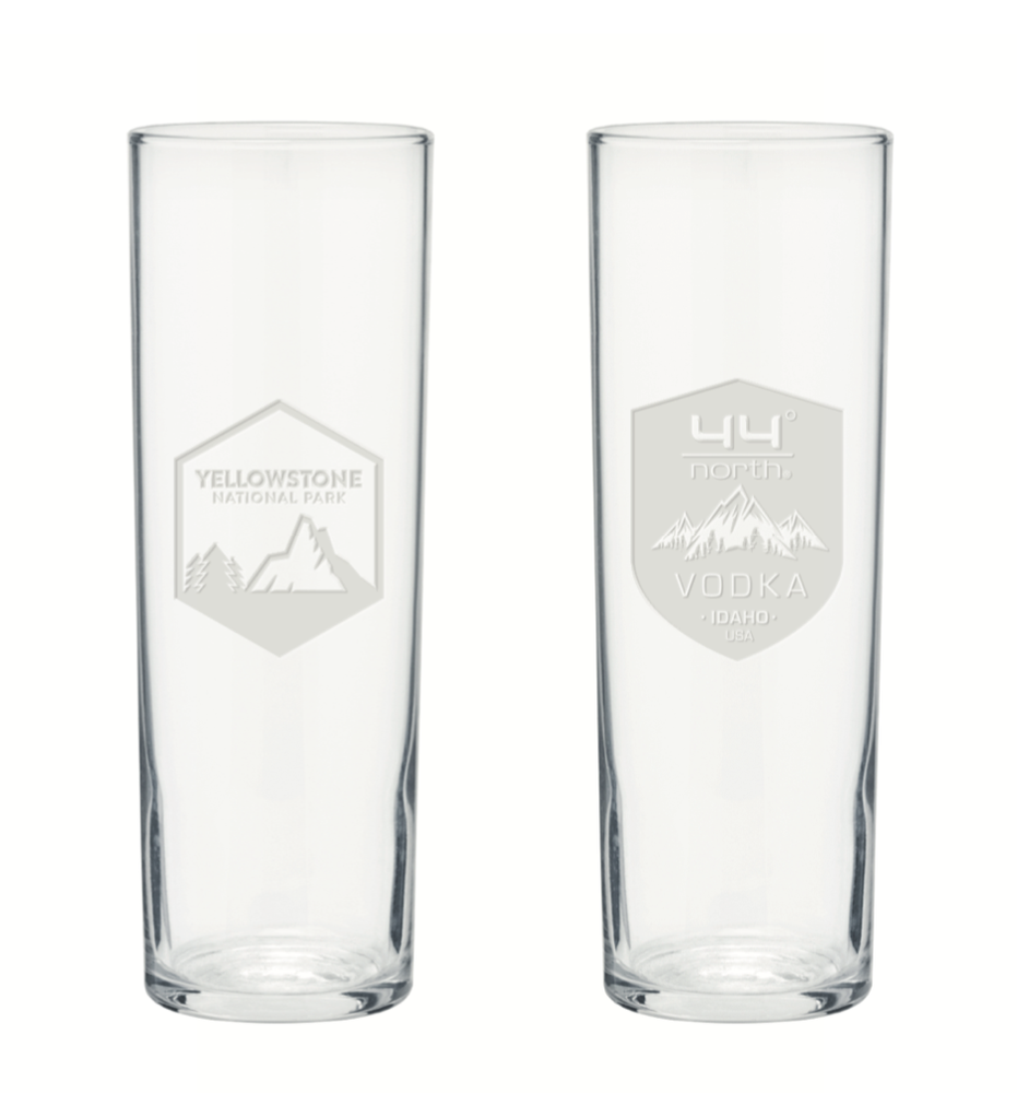Image of 44 North Vodka Yellowstone Collins Glasses