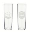44 North Vodka Yellowstone Collins Glasses