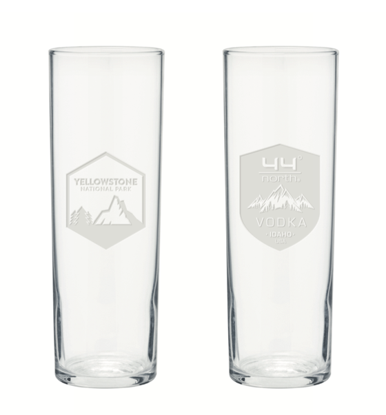Image of 44 North Vodka Yellowstone Collins Glasses