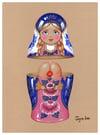 """Beauty inside 3"" Print (DP358)"