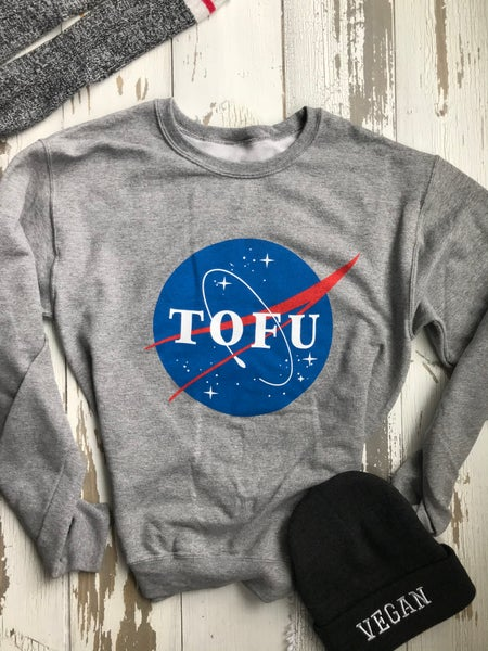 Image of NASA Tofu Oxford grey sweatshirt