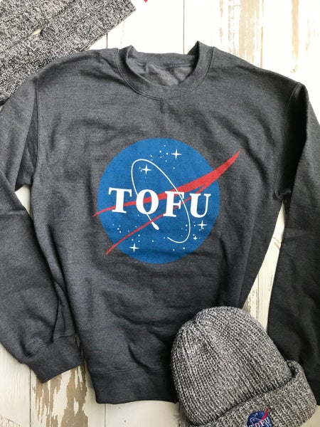 Image of NASA tofu dark heather sweatshirt