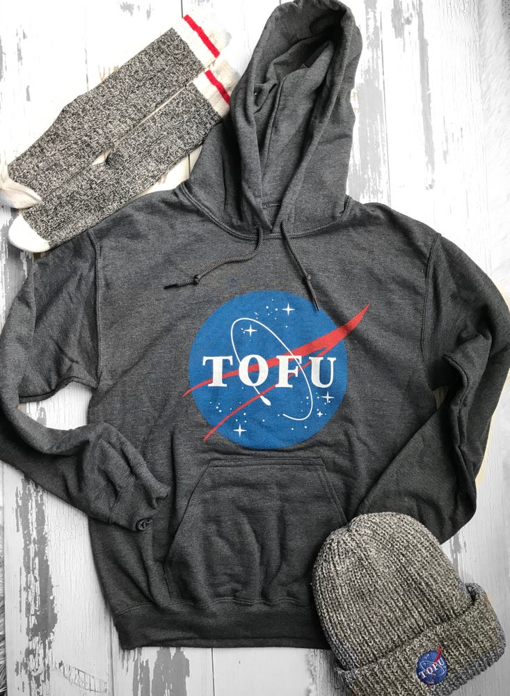 Image of Tofu Hoodie unisex (grey and black)