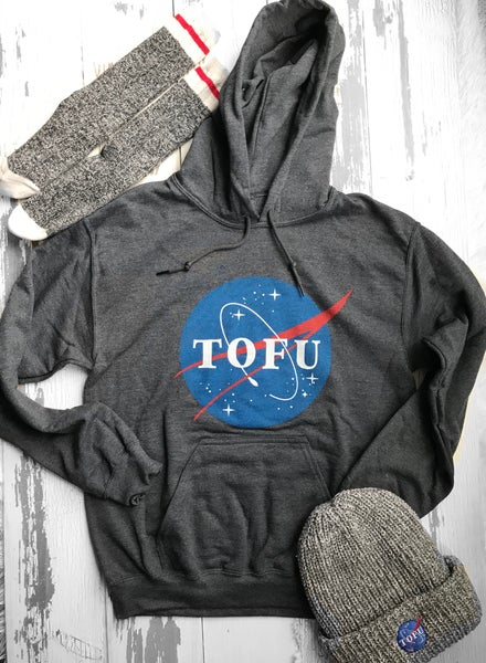 Image of Tofu Hoodie unisex (grey and black)