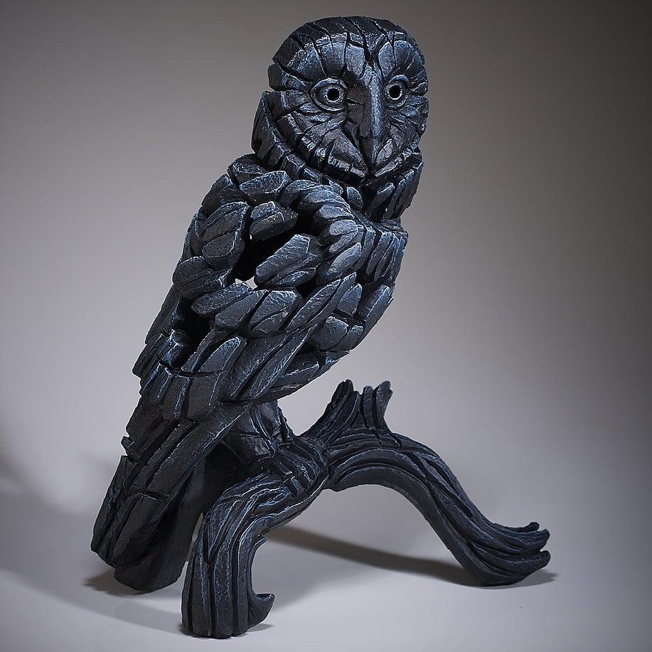 "Edge Sculpture ""Barn Owl - Black"""
