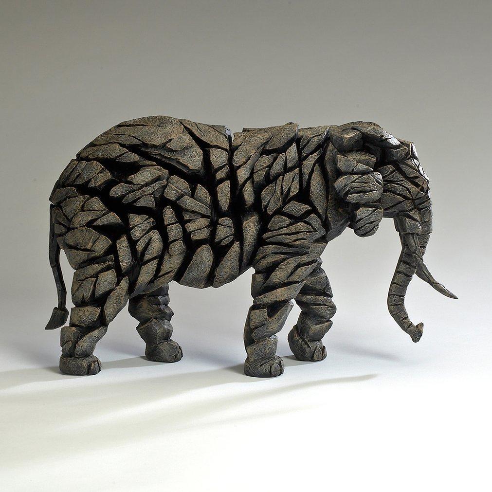"""Edge Sculpture """"Elephant - Mocha"""""""