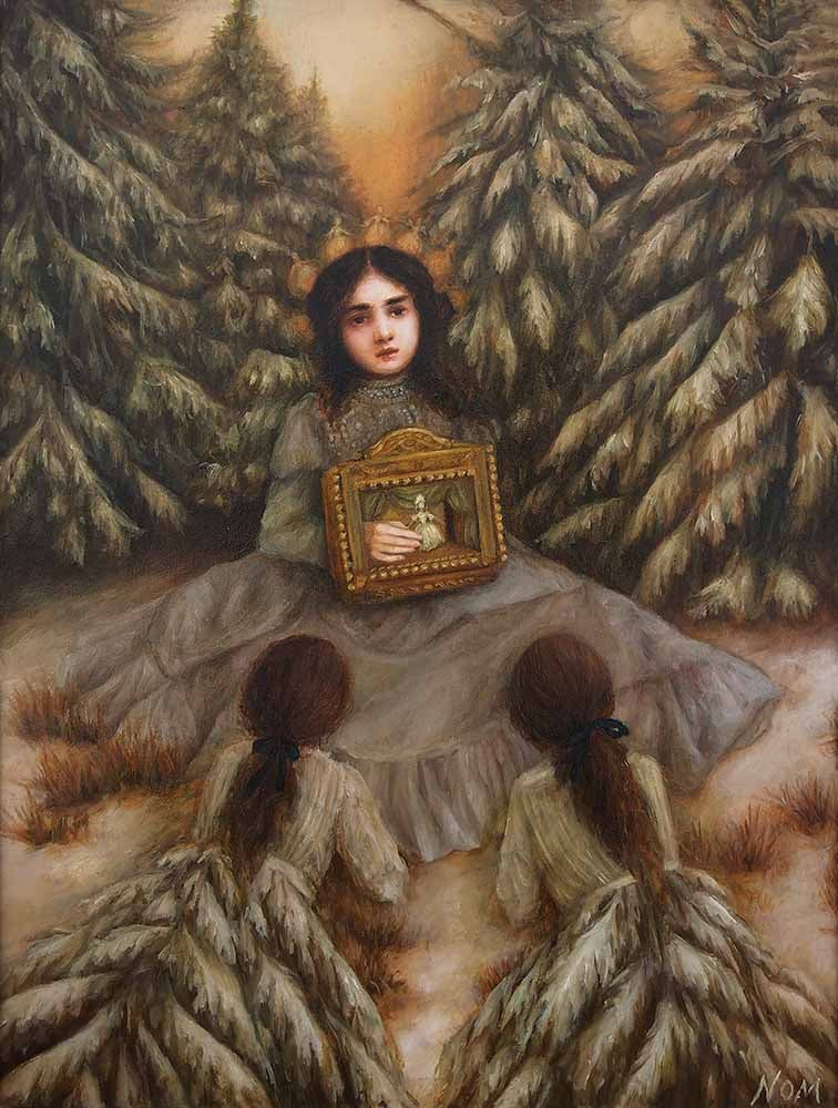 Image of NOM KINNEAR KING - 'WINTERS FABLE' - ORIGINAL PAINTING