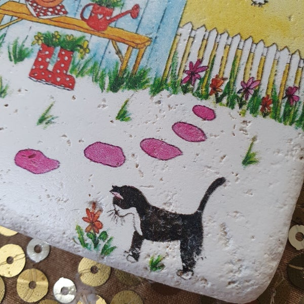 Image of 'Secret Garden' Stone Coaster