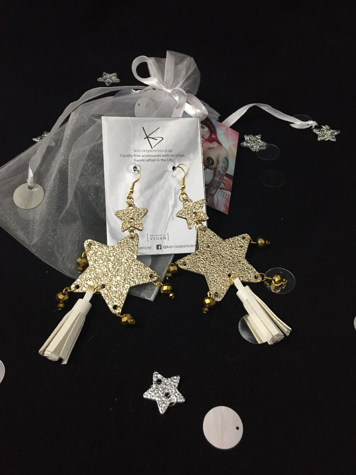 Image of Double Star Earrings