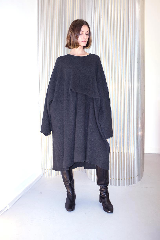Image of Dress 1 - Organic wool - Black