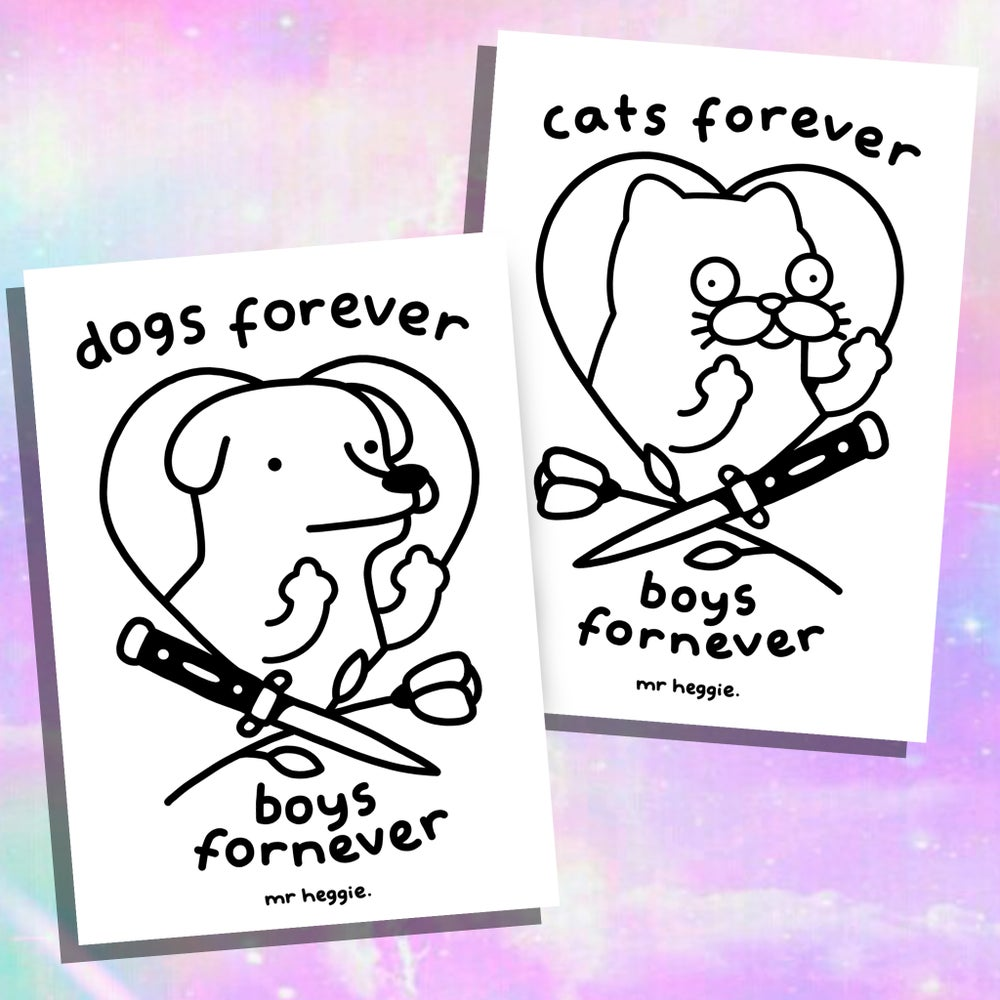 Image of The cats or dogs forever A5 prints