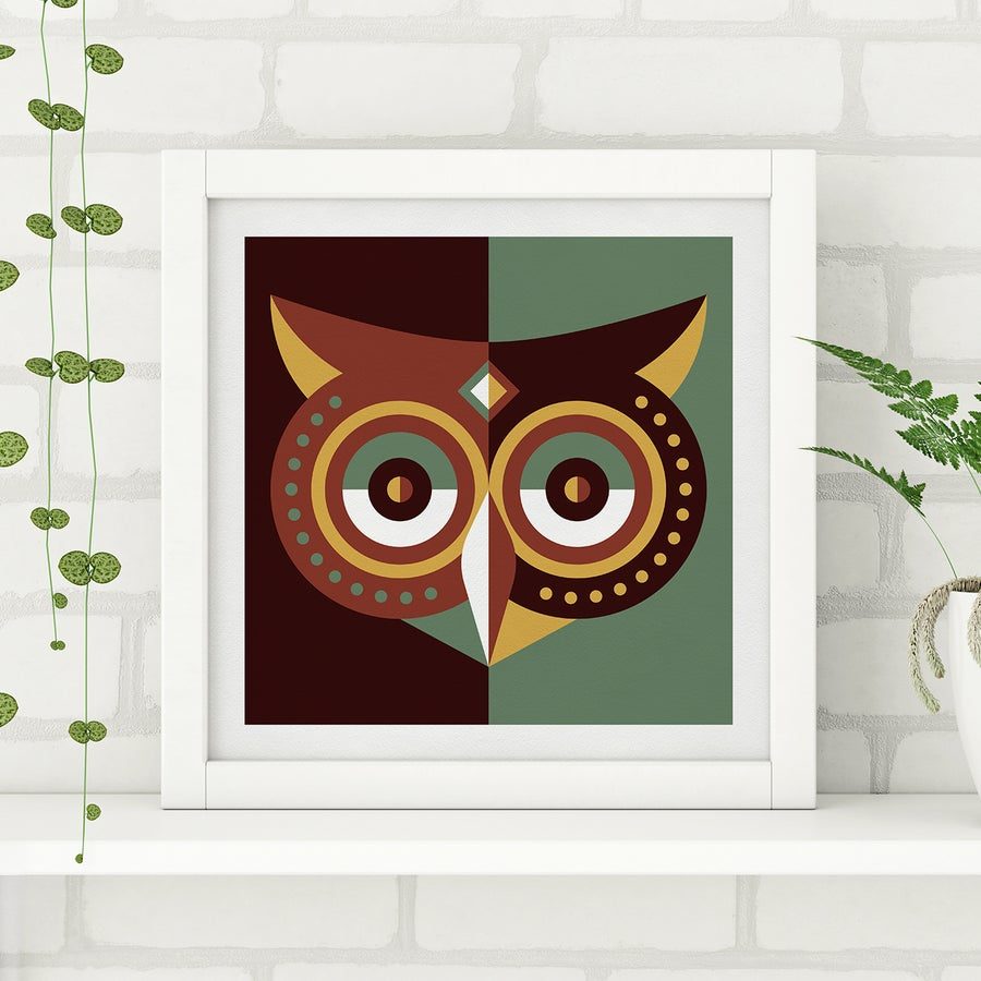 Image of Wood Animals - Owl