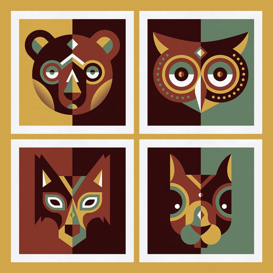 Image of Wood animals - Complete series