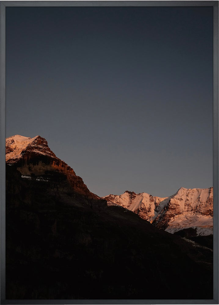 Image of Alpenglühen II - DIN A3 inkl. Rahmen