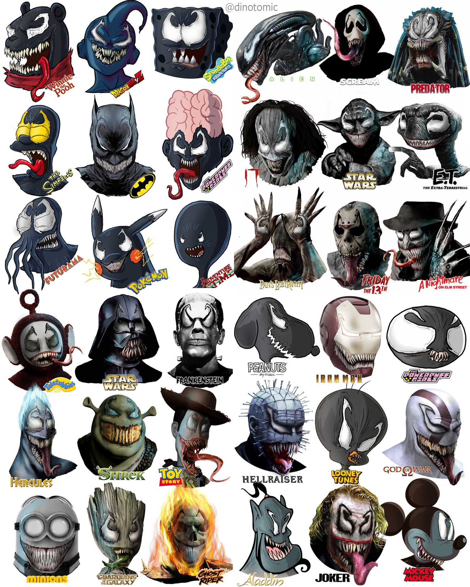 Image of #284 36 Venom characthers!
