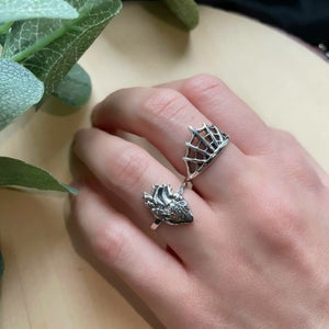 Image of Spiderweb 925 Sterling Silver Ring