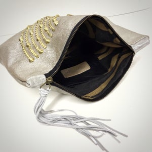 Image of Metallic Silver Over Size Clutch
