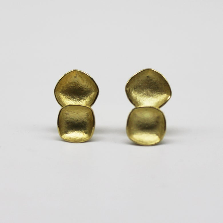 Image of double faceted earrings