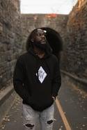 PH Applique Stitch Hoodie-Black