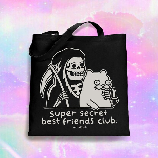 Image of The super secret best friends club tote bag