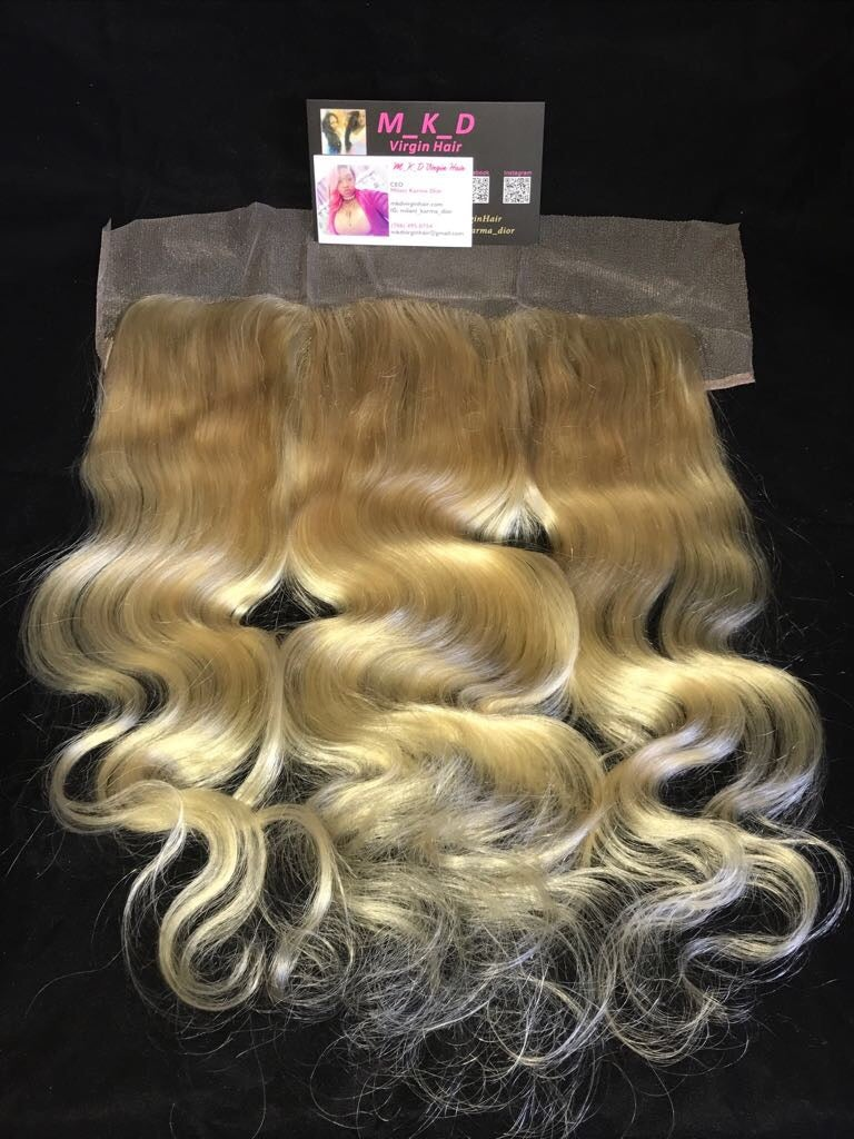 13x4 Blonde or Ombré Frontals